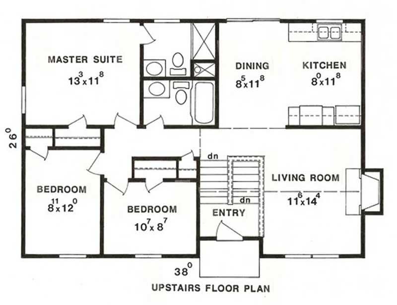 3 Bedrm 1433 Sq Ft Multi Level House Plan 147 1015