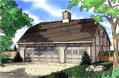0-Bedroom, 1175 Sq Ft Garage Home Plan - 147-1016 - Main Exterior