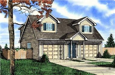 0-Bedroom, 1085 Sq Ft Colonial Home Plan - 147-1017 - Main Exterior