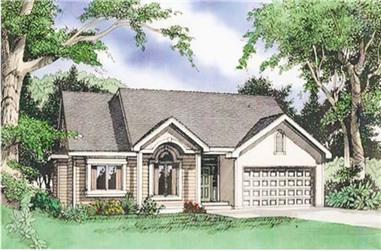 3-Bedroom, 1733 Sq Ft Ranch Home Plan - 147-1019 - Main Exterior