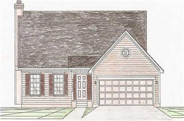 3-Bedroom, 1617 Sq Ft Contemporary Home Plan - 147-1022 - Main Exterior