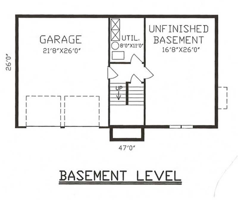 3 bedrm 1432 sq ft multi level house plan 147 1023 for Multi level home floor plans