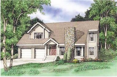 3-Bedroom, 1450 Sq Ft Contemporary House Plan - 147-1024 - Front Exterior