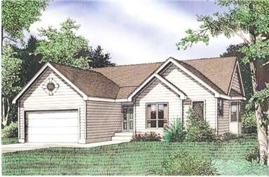 3-Bedroom, 1337 Sq Ft Ranch Home Plan - 147-1026 - Main Exterior