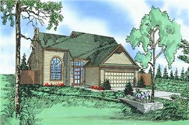 3-Bedroom, 1931 Sq Ft Traditional House Plan - 147-1027 - Front Exterior