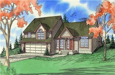 3-Bedroom, 1862 Sq Ft Traditional Home Plan - 147-1028 - Main Exterior
