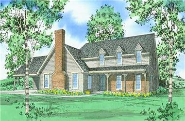 2-Bedroom, 2472 Sq Ft Farmhouse House Plan - 147-1030 - Front Exterior
