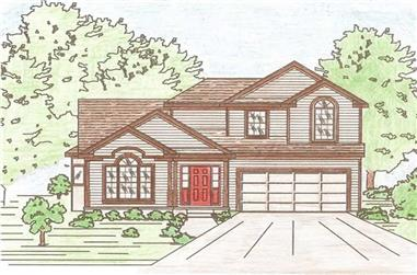 3-Bedroom, 1835 Sq Ft Traditional Home Plan - 147-1032 - Main Exterior
