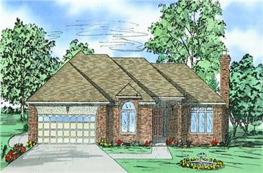 3-Bedroom, 2000 Sq Ft Bungalow House Plan - 147-1033 - Front Exterior