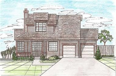 3-Bedroom, 1819 Sq Ft Contemporary Home Plan - 147-1035 - Main Exterior