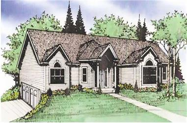 3-Bedroom, 1830 Sq Ft Ranch House Plan - 147-1036 - Front Exterior