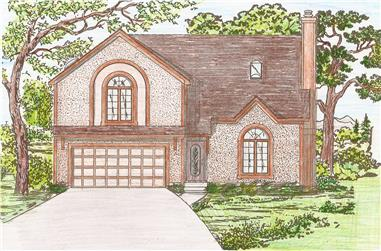 3-Bedroom, 2171 Sq Ft Contemporary House Plan - 147-1038 - Front Exterior