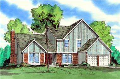 4-Bedroom, 2697 Sq Ft Craftsman House Plan - 147-1039 - Front Exterior