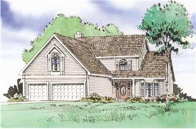 4-Bedroom, 2636 Sq Ft Country House Plan - 147-1043 - Front Exterior