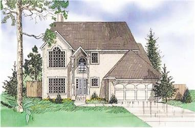 4-Bedroom, 2163 Sq Ft Contemporary Home Plan - 147-1044 - Main Exterior