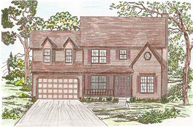 4-Bedroom, 2142 Sq Ft Country Home Plan - 147-1045 - Main Exterior