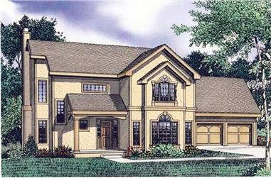 4-Bedroom, 2667 Sq Ft Contemporary Home Plan - 147-1047 - Main Exterior