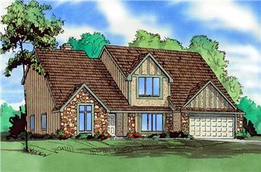 4-Bedroom, 2889 Sq Ft Craftsman Home Plan - 147-1048 - Main Exterior