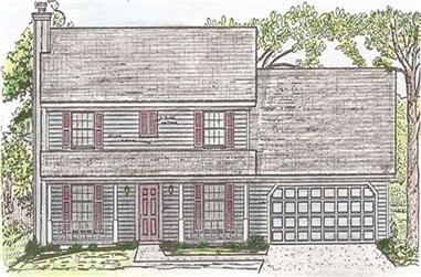 4-Bedroom, 2133 Sq Ft Country Home Plan - 147-1049 - Main Exterior