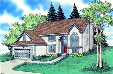 4-Bedroom, 2576 Sq Ft Contemporary Home Plan - 147-1050 - Main Exterior