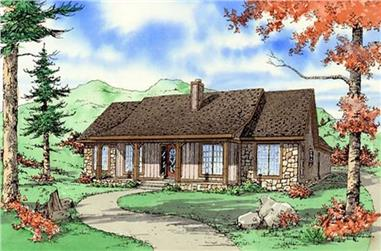 3-Bedroom, 1866 Sq Ft Country House Plan - 147-1051 - Front Exterior