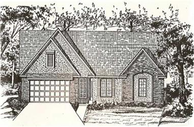 3-Bedroom, 2420 Sq Ft Ranch Home Plan - 147-1053 - Main Exterior