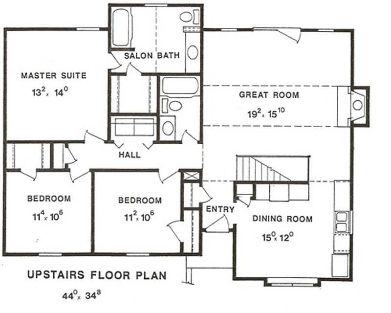 Multi level house plans home design lp 2601 for Multi level floor plans
