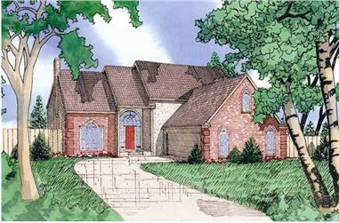 3-Bedroom, 2095 Sq Ft Contemporary House Plan - 147-1055 - Front Exterior