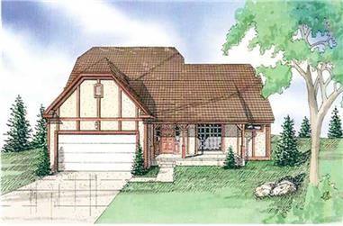 4-Bedroom, 2112 Sq Ft Country Home Plan - 147-1056 - Main Exterior