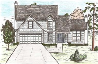 4-Bedroom, 2117 Sq Ft Traditional House Plan - 147-1058 - Front Exterior