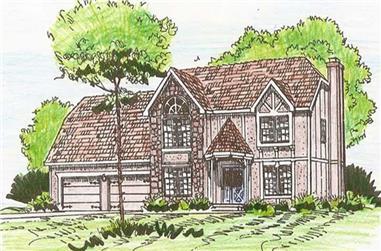 4-Bedroom, 2690 Sq Ft Craftsman House Plan - 147-1059 - Front Exterior