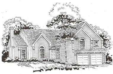 4-Bedroom, 1954 Sq Ft Traditional Home Plan - 147-1061 - Main Exterior