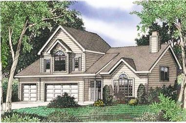 4-Bedroom, 2649 Sq Ft Multi-Level Home Plan - 147-1062 - Main Exterior