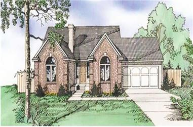3-Bedroom, 1858 Sq Ft Ranch House Plan - 147-1064 - Front Exterior