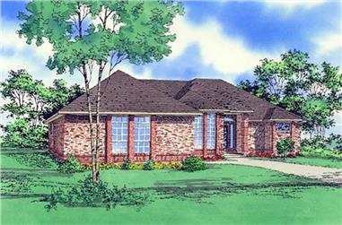 3-Bedroom, 2022 Sq Ft Ranch House Plan - 147-1065 - Front Exterior