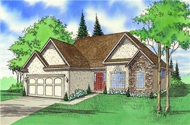 3-Bedroom, 1935 Sq Ft Country Home Plan - 147-1066 - Main Exterior