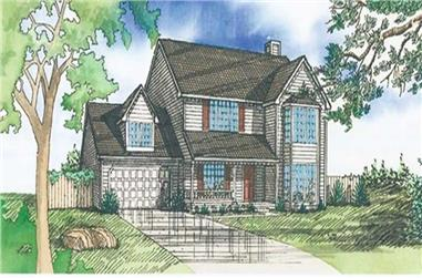 4-Bedroom, 2119 Sq Ft Traditional House Plan - 147-1073 - Front Exterior