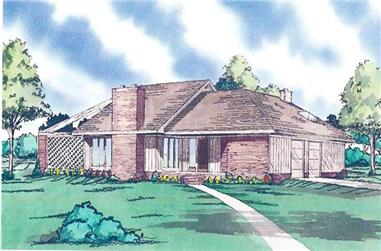 3-Bedroom, 2121 Sq Ft Country Home Plan - 147-1075 - Main Exterior