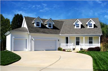 4-Bedroom, 2160 Sq Ft Country Home Plan - 147-1077 - Main Exterior