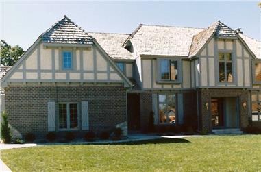 4-Bedroom, 3710 Sq Ft European Home Plan - 147-1078 - Main Exterior