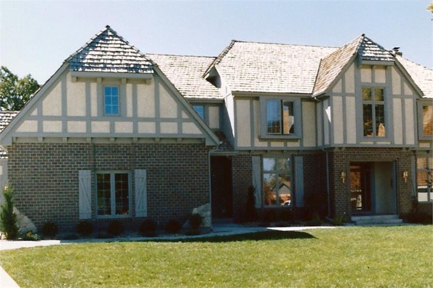 Color photograph of European home plan (ThePlanCollection: House Plan #147-1078)