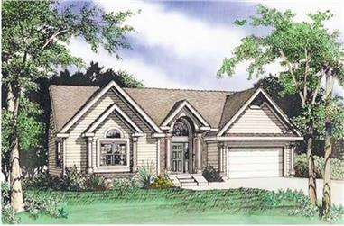 4-Bedroom, 2904 Sq Ft Traditional Home Plan - 147-1079 - Main Exterior