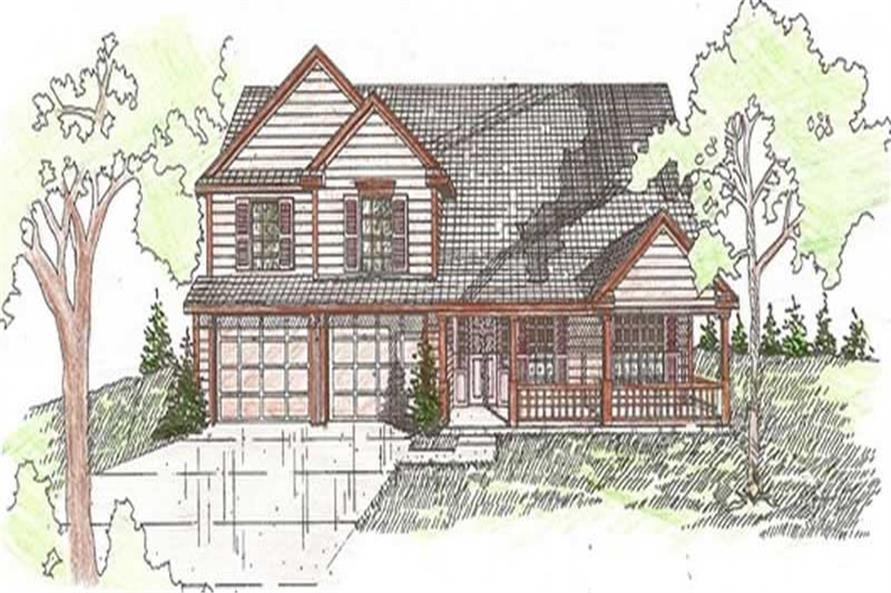 3-Bedroom, 1763 Sq Ft Small House Plans - 147-1084 - Main Exterior