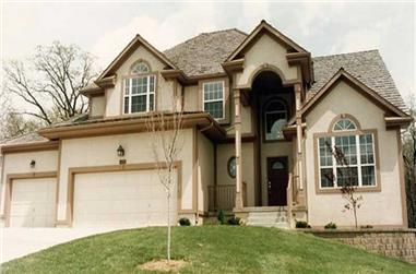3-Bedroom, 2217 Sq Ft Traditional Home Plan - 147-1095 - Main Exterior