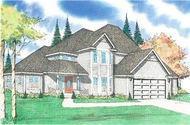 3-Bedroom, 2270 Sq Ft Traditional Home Plan - 147-1096 - Main Exterior