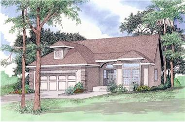 4-Bedroom, 2710 Sq Ft Ranch House Plan - 147-1097 - Front Exterior
