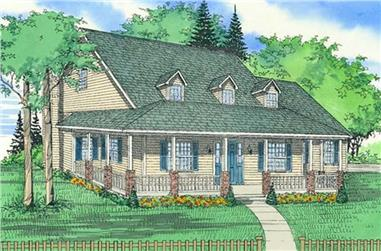 3-Bedroom, 2231 Sq Ft Country Home Plan - 147-1098 - Main Exterior
