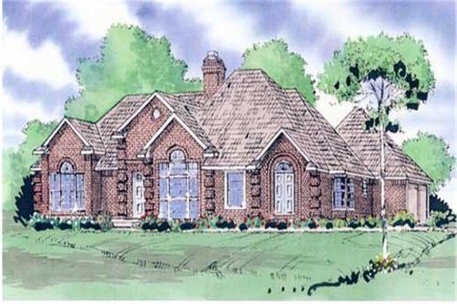 147-1101: Home Plan Rendering-Front Door
