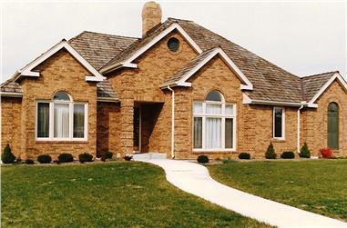 3-Bedroom, 2228 Sq Ft European House Plan - 147-1101 - Front Exterior