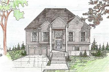 4-Bedroom, 3106 Sq Ft Traditional House Plan - 147-1104 - Front Exterior